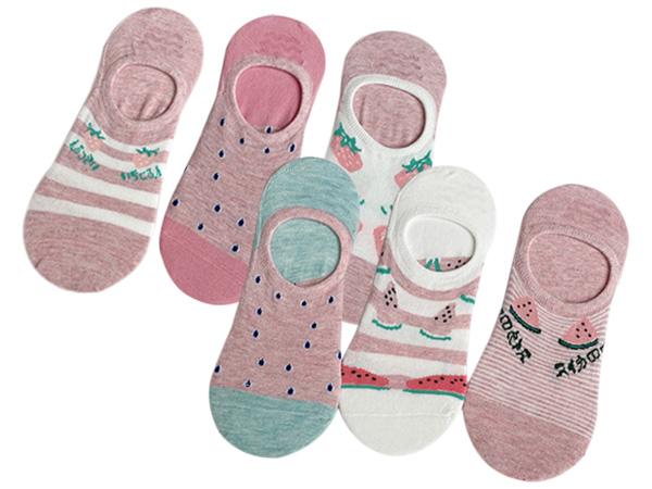 春夏薄款草莓系列/西瓜系列 防滑隱形襪(1雙入) 款式可選【D080110】圖案隨機出貨