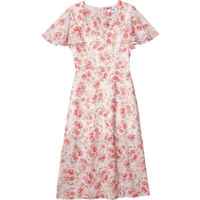 スティーブ マデン BB Dakota x Steve Madden レディース ワンピース ミドル丈 ワンピース・ドレス Endless Love Fairy Rose Printed CDC Midi Dress Ash Rose