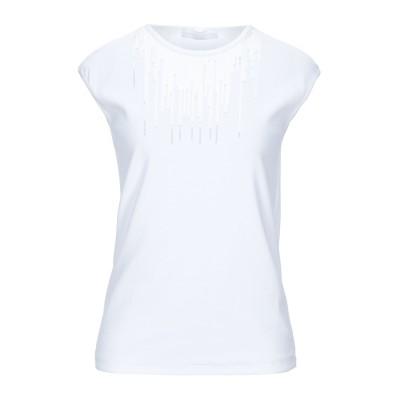 ファビアナフィリッピ FABIANA FILIPPI T シャツ ホワイト 40 コットン 94% / ポリウレタン 6% T シャツ