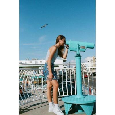 アーバンアウトフィッターズ Urban Outfitters レディース ミニスカート スカート uo vera flippy mini skirt Blue Multi