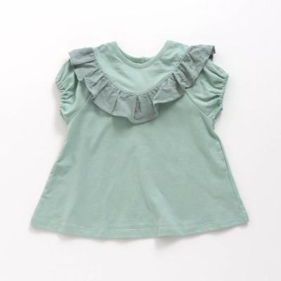 セール 子供服 女の子 半袖 Tシャツ フリル 異素材使い Seraph セラフ メール便可