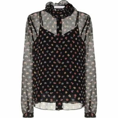 クロエ See By Chloe レディース ブラウス・シャツ トップス floral georgette blouse Multicolor Black