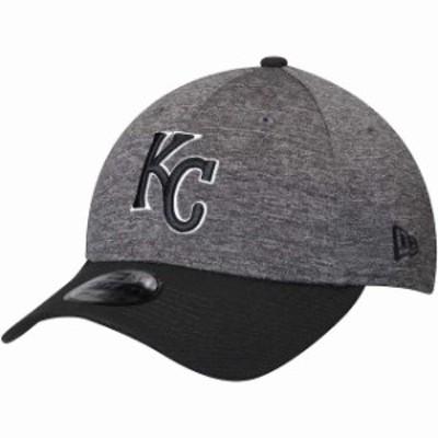 New Era ニュー エラ スポーツ用品  New Era Kansas City Royals Heathered Gray/Black Shadow Tech 39THIRTY Flex Hat