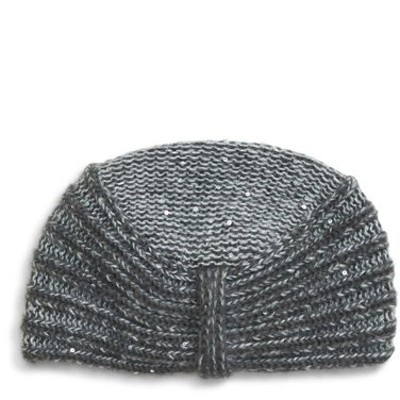 マックスマーラ MAX MARA レディース 帽子 Simone Sequin Embellished Knit Hat Medium Grey