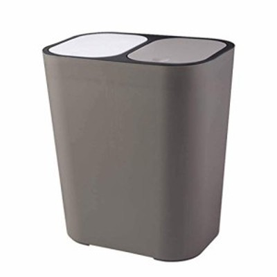 LXDZXY Waste Bin18 L Plastic Trash CanRecycle Bin with Dual Compartment Lid Removable Inner Buckets Garbage Can for Kitche