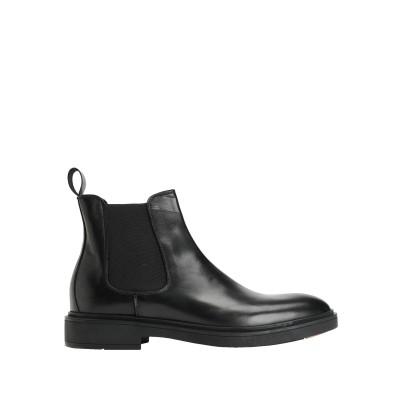 8 by YOOX ショートブーツ ブラック 40 牛革(カーフ) 100% ショートブーツ