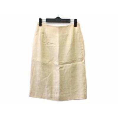 ダックス DAKS スカート サイズ64-91 レディース アイボリー【還元祭対象】【中古】20200222