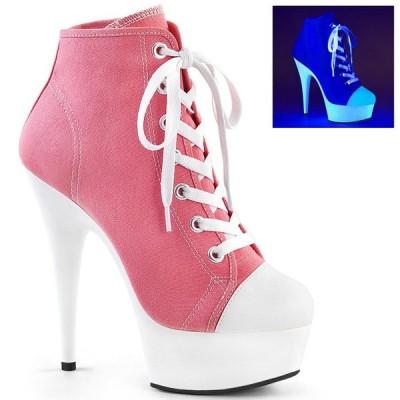 取寄せ靴 PLEASER プリーザー サンダル 15cm ヒール ピンク 大きいサイズあり