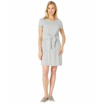 モッドドック ワンピース トップス レディース Short Sleeve T-Shirt Dress with Tie Front in Cotton Modal Spandex Jersey Smoke Heather
