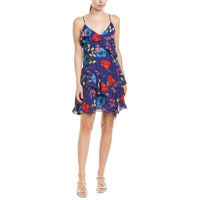 パーカー ワンピース トップス レディース Parker Holly Silk-Blend Mini Dress Valencia eclipse