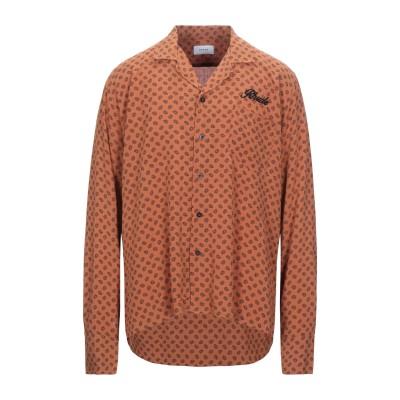 RHUDE シャツ 赤茶色 L レーヨン 100% シャツ
