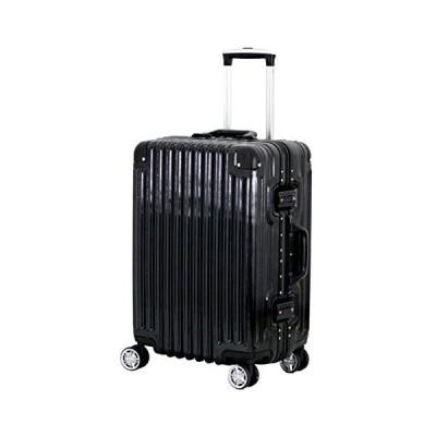 [トライデント] スーツケース ハードフレームケース アルミ調 シフレ 1年保証  保証付 51L 52cm 4.4kg TRI1030-52 ブラッ