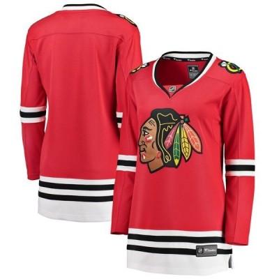 ファナティクス ブランデッド レディース Tシャツ トップス Chicago Blackhawks Fanatics Branded Women's Breakaway Home Jersey