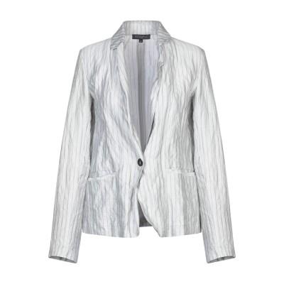 ANTONELLI テーラードジャケット ライトグレー 42 コットン 75% / シルク 14% / 金属 11% テーラードジャケット