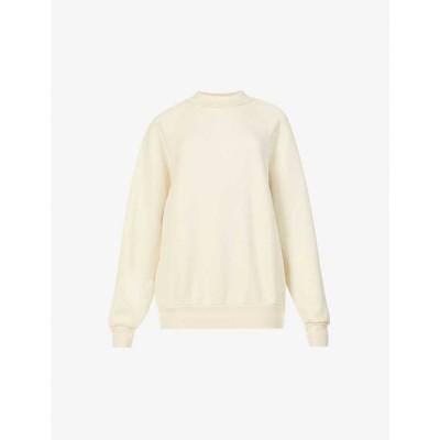 レス ティエン LES TIEN レディース スウェット・トレーナー トップス High-neck cotton-jersey sweatshirt Ivory