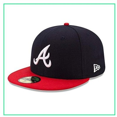 New Era 59FIFTY Atlanta Braves Navy/Red MLB 2017 Authentic Collection On Field Home Cap Size 7 1/8