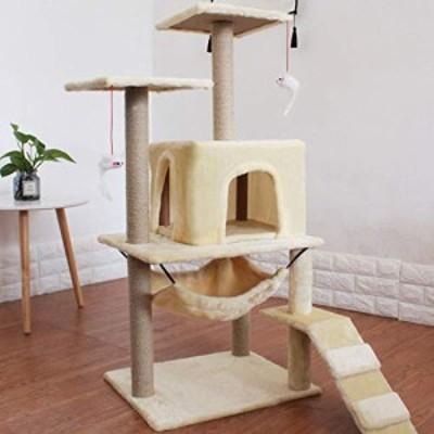 猫の木猫の塔活動センターサイザルで覆われた引っ掻くポスト猫のベッドハン(中古品)
