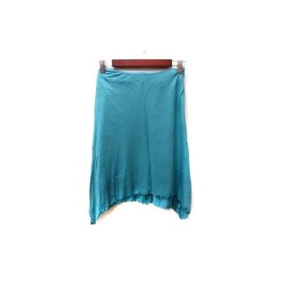 【中古】クローラ crolla フレアスカート ひざ丈 36 青 ブルー /YI レディース 【ベクトル 古着】