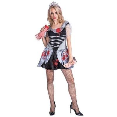 S〜Lハロウィン衣装  大人用 女性用 ブラッドウェディングガール ガイコツ ゾンビ ゾンビの花嫁に変身 コスプレ コスチューム ハロウィン 衣装 ハロウィーン