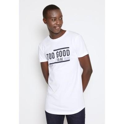 トムテイラーデニム Tシャツ メンズ トップス WITH PRINT - Print T-shirt - white