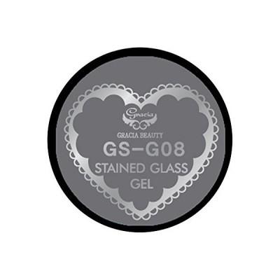 グラシア ジェルネイル ステンドグラスジェル GSM-G08 3g グリッター UV/LED対応 カラージェル ソークオフジェル ガラスのような透明