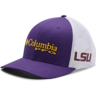 コロンビア Columbia メンズ 帽子 LSU Tigers Purple PFG Mesh Fitted Hat
