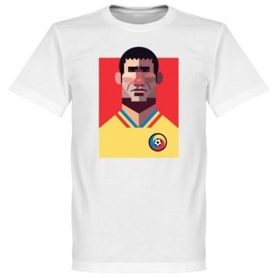 ルーマニア代表 ゲオルゲ・ハジ Tシャツ SOCCER プレイメーカー ホワイト