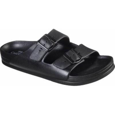 スケッチャーズ メンズ サンダル シューズ Men's Skechers Foamies Cali Surf Journey Slide Black/Black