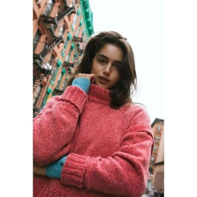 アーバンアウトフィッターズ Urban Outfitters レディース ニット・セーター トップス uo daria double take chenille sweater Pink