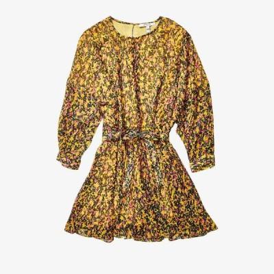 デレクラムテンクロスバイ レディース ワンピース トップス Long Sleeve Godet Skirt Dress