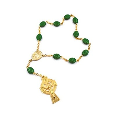 Porcelain Shamrock Single Decade Rosary by J.C. Walsh & Sons- Made In Irela