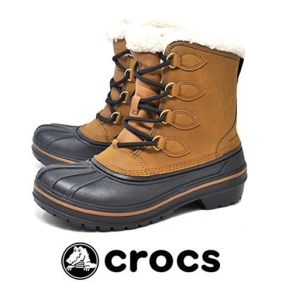 防寒 防水 軽量 防滑 スノーブーツ ボア レディース クロックス crocs 203430 209 ALLCAST 2.0 BOOT W WHEAT ウィート 雪 冬 ビーンブーツ 正規品