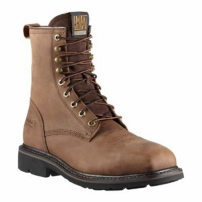 アリアト レインシューズ・長靴 Cascade 8 Wide Square Steel Toe Boot Alamo Brown Full Grain Leather