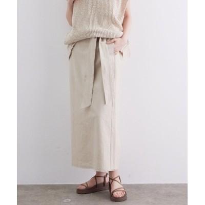 ViS / 【ヘンプオーガニックコットン】リネンライクナロースカート WOMEN スカート > スカート