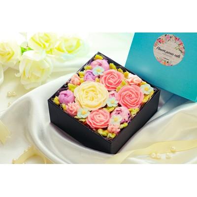 『食べられるお花のケーキ』【Spring Colors】ボックスフラワーケーキ