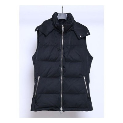 wjk ダブルジェイケー simple hooded down vest black wjk2905jd18