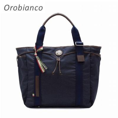 オロビアンコ トートバッグ ARINNA-Z8 01 JEANS DARK/TABACCO OROBIANCO ハンドバッグ メンズ