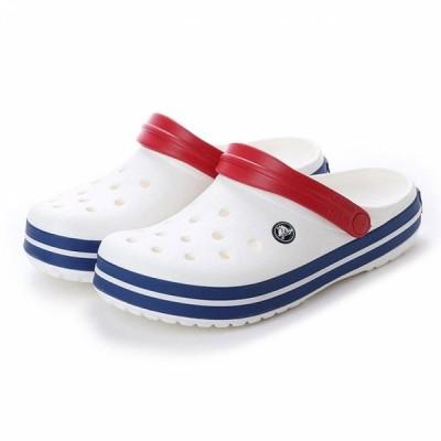 クロックス 正規品 クロックバンド クロッグ ホワイト×ブルー (11016 11I) クロッグサンダル メンズ Crocband crocs