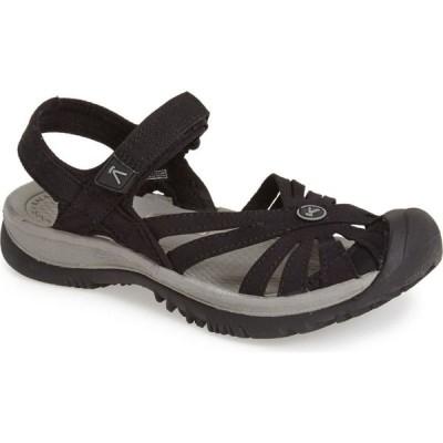 キーン KEEN レディース サンダル・ミュール シューズ・靴 'Rose' Sandal Black/Grey