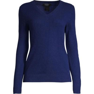 ロード アンド テイラー Lord & Taylor レディース ニット・セーター Vネック トップス Essential V-Neck Cashmere Sweater ネイビーナイト