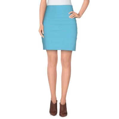 PHILIPP PLEIN ミニスカート ターコイズブルー M 86% レーヨン 10% ナイロン 4% ポリウレタン ミニスカート