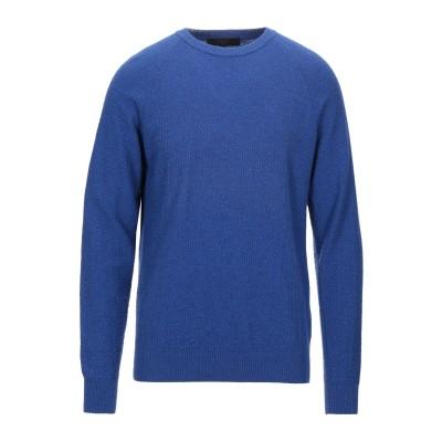 LIU •JO MAN プルオーバー ブライトブルー XL レーヨン 30% / ウール 30% / ナイロン 30% / カシミヤ 10% プルオ