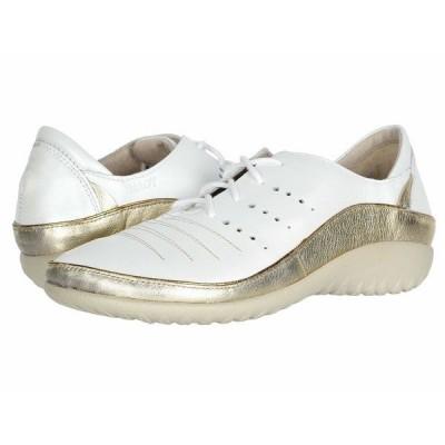 ナオト オックスフォード シューズ レディース Kumara White Pearl Leather/Radiant Gold Leather