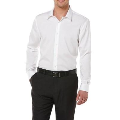 ペリーエリス メンズ シャツ トップス Non-Iron Solid Long-Sleeve Twill Shirt