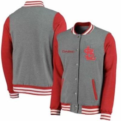 Fanatics Branded ファナティクス ブランド アウターウェア ジャケット/アウター St. Louis Cardinals Heathered Gray/Red Timeless Thro