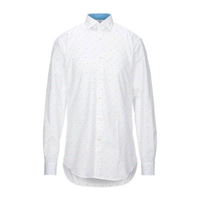 ポール・アンド・シャーク PAUL & SHARK シャツ ホワイト 40 コットン 100% シャツ