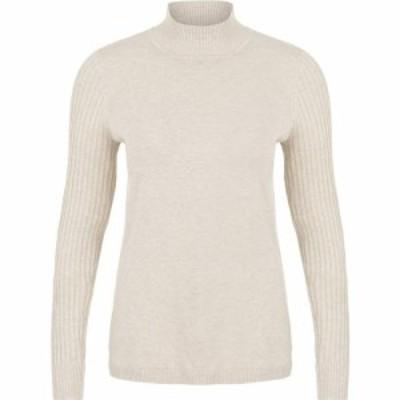 トリバル Tribal レディース ニット・セーター トップス Long Sleeve Mock Neck Sweater Oatmeal