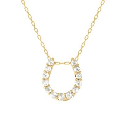ダイヤモンド ネックレス K18イエローゴールド 4月誕生石 0.20カラット ローズカット K18イエローゴールド アズキチェーン  プレゼント 天然石 京セラ