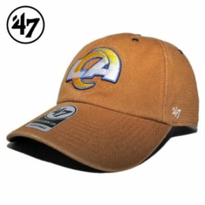 47ブランド カーハート コラボ ストラップバックキャップ 帽子 メンズ レディース 47BRAND CARHARTT NFL ロサンゼルス ラムズ フリーサイ