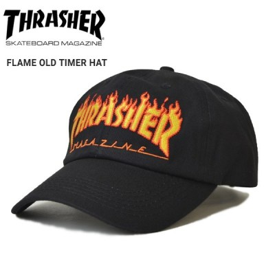 THRASHER スラッシャー FLAME OLD TIMER HAT CAP キャップ 6パネルキャップ ストラップバックキャップ 帽子